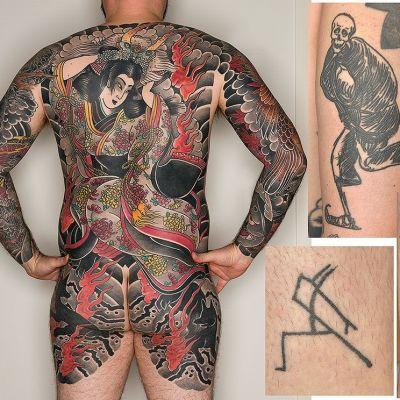 Urval av tatuerade konstverk