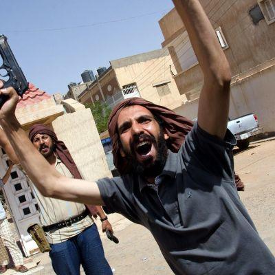 Kapinallisia Libyan Sabhassa syyskuussa 2011.
