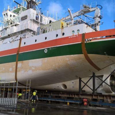 Aranda dockad på Raumovarvet.