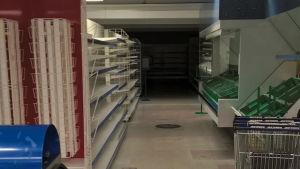 Leila Mänttäris sista bild av butiken innan den stängde.