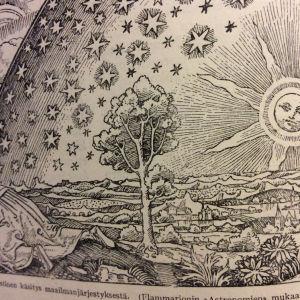 Keskiaikainen fantastinen käsitys maailmanjärjestyksestä. Oletettu tekijä: Camille Flammarion.