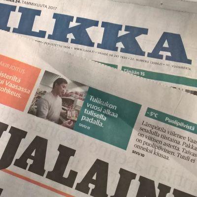Ilkka ja Pohjalainen muuttuvat tabloid-kokoisiksi keväällä 2018.