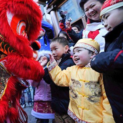 Kiinalaisten uuden vuoden juhlintaa New Yorkissa.