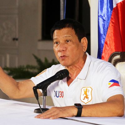 Presidentti Rodrigo Duterte.