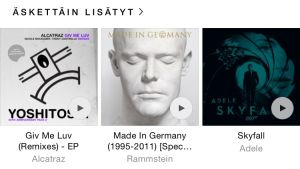 Apple Music Oma musiikki