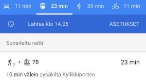 google maps julkinen liikenne