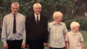 Alla fyra bröderna Sjöman.