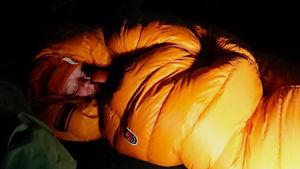 toukka makuupussissa
