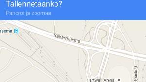 google maps tallennus