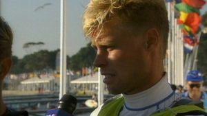 Purjehtija Jyrki Järvi vuonna 2000 Sydneyn olympialaisissa.