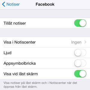 Notifikationer på iPhone