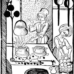 Träsnitt ur den första tryckta tyska kokboken
