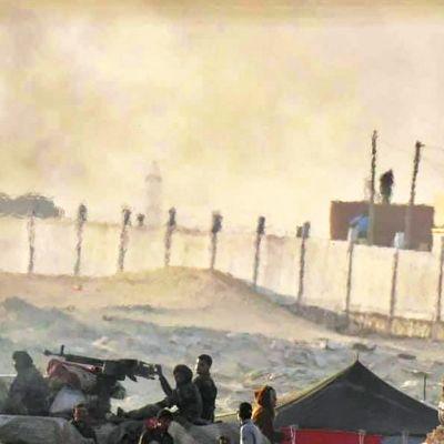 Marokon armeijan välittämä kuva Länsi-Saharan alueelta.
