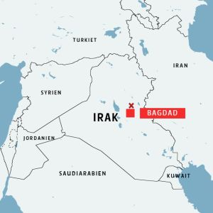 karta över Irak