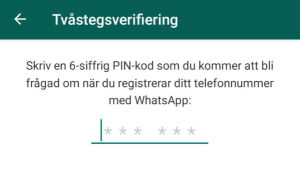 Screenshot från Whatsapp.