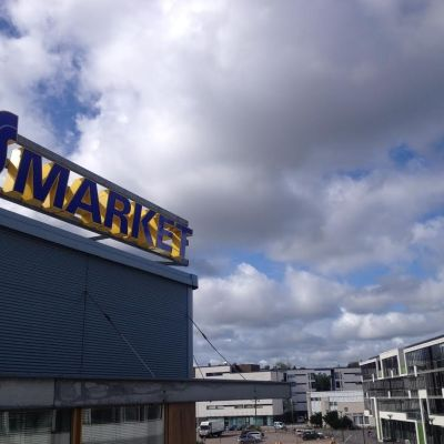 S-market i Grankulla.