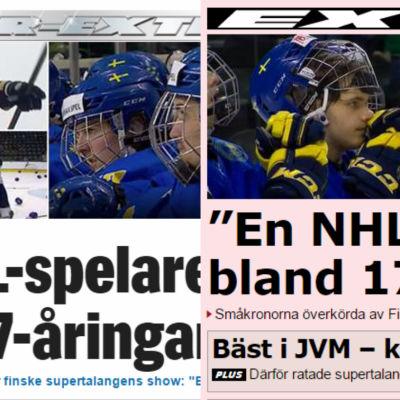 Collage av Aftonbladets och Expressens hemsidor.