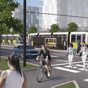 tänkbar framtida spårvagn i Åbo