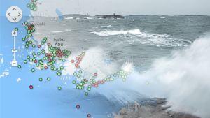 Saltvatten strömmar in i Östersjön