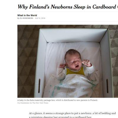 Kuvankaappaus New York Timesin sivuilta.