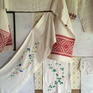 Karjalaisia käsitöitäkin oli nähtävillä Haikolan etnografisessa museossa