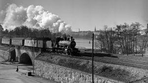 Juna Töölönlahdella 1952