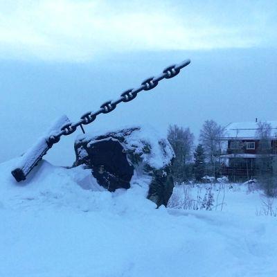 Ankkuripatsas Kemijärven Hietaniemessä