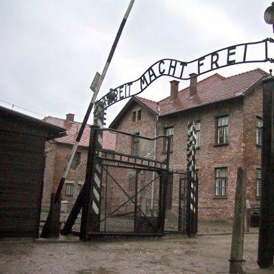 Auschwitz-Birkenaun pääportti.