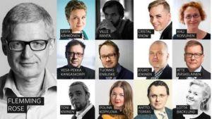Bild av talarna på seminariet Yle Forum 20.10.2015.