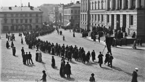 Arbetarnas marsch på Senatstorget 1912