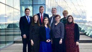 Minister Blomqvist tillsammans med sina nordiska kolleger under ett möte i Köpenhamn.