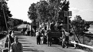 Länsiväylällä kalastuskilpailut 1950-luvulla