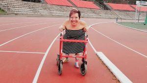 Anna Caldén går 800 meter