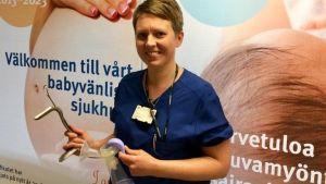 Jaana Ekebohm är barnmorska på Vasa Centralsjukhus.