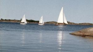 Purjeveneitä Ahvenanmaan saaristossa ohjelmassa Vene on silta.