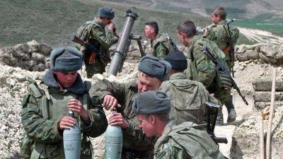 Fyra ryska militarer dodades i groznyj