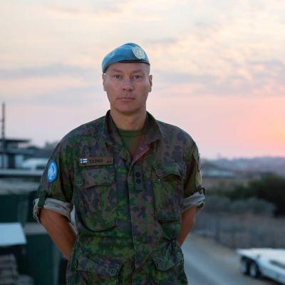 Everstiluutnantti Tapio Huhtamella aloittaa Maasotakouluun kuuluvan Jalkaväkikoulun johtajana.