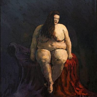 """Målningen """"Status Quo"""" av den tjeckiske målaren Alexandr Onishenko."""