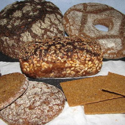 Olika bröd av råg
