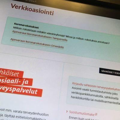 Tampereen kaupungin asioi verkossa -nettisivut