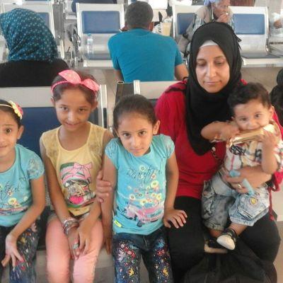 Safaa och barnen på väg till Ankara.