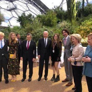 G7-ländernas ledare i Cornwall