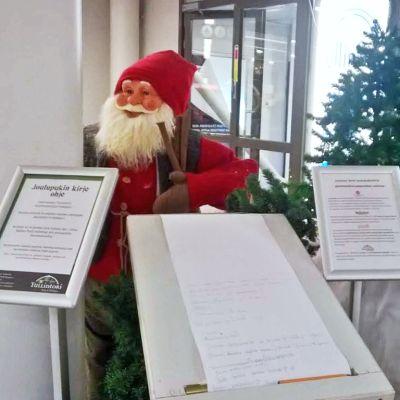 Joulupukin kirje Tullintorilla, kirjeessä muutamia viestejä Joulupukille.
