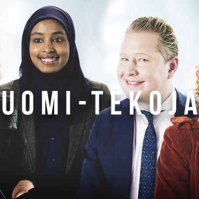 Suomi-tekoja: Sipe Santapukki, Maryan Abdulkarim, Pekka Mattila, Saimi Hoyer ja 14 muut.