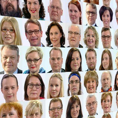 Suomalaisten eurovaaliehdokkaiden kuvia