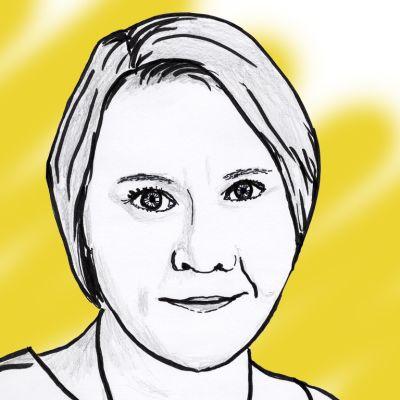 Marjo Näkki -piirros.