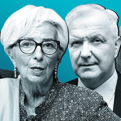 Philip Lane, EKP:n pääjohtaja Christine Lagarde, Olli Rehn ja Isabel Schnabel