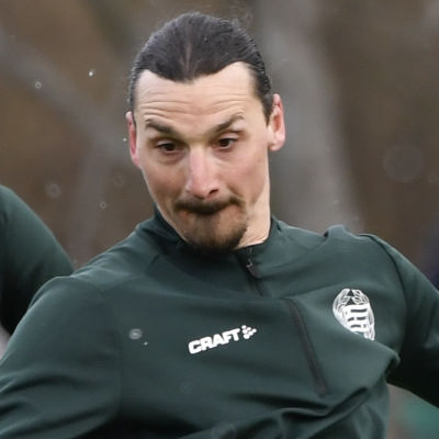 Zlatan Ibrahimovic tränar med Hammarby.