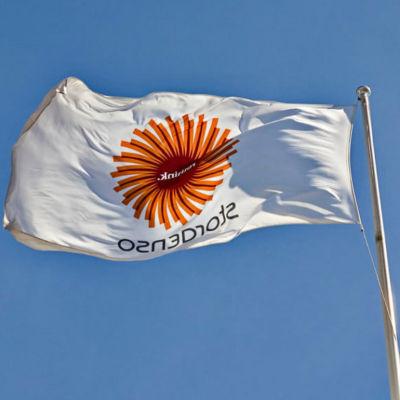 Stora Enso-flagga.
