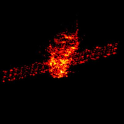 Tutkakuva Tiangong-1-avaruusasemasta maalikuussa 2018.